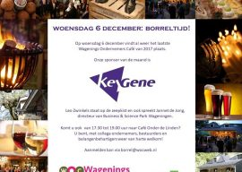 Wagenings Ondernemers Café woensdag 6 december