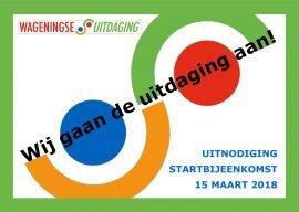 Startbijeenkomst Wageningse Uitdaging