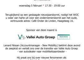 Ondernemerscafé op 5 februari